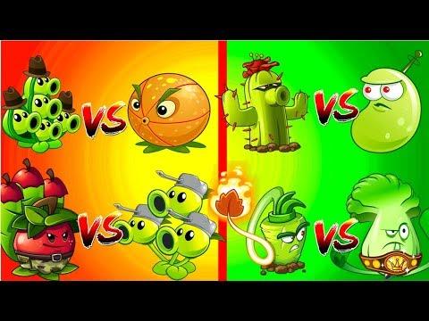 Plants vs Zombies 2 Free vs Premium - Pea Pod vs Citron- Threepeater vs Apple Mortar and More PVZ 2