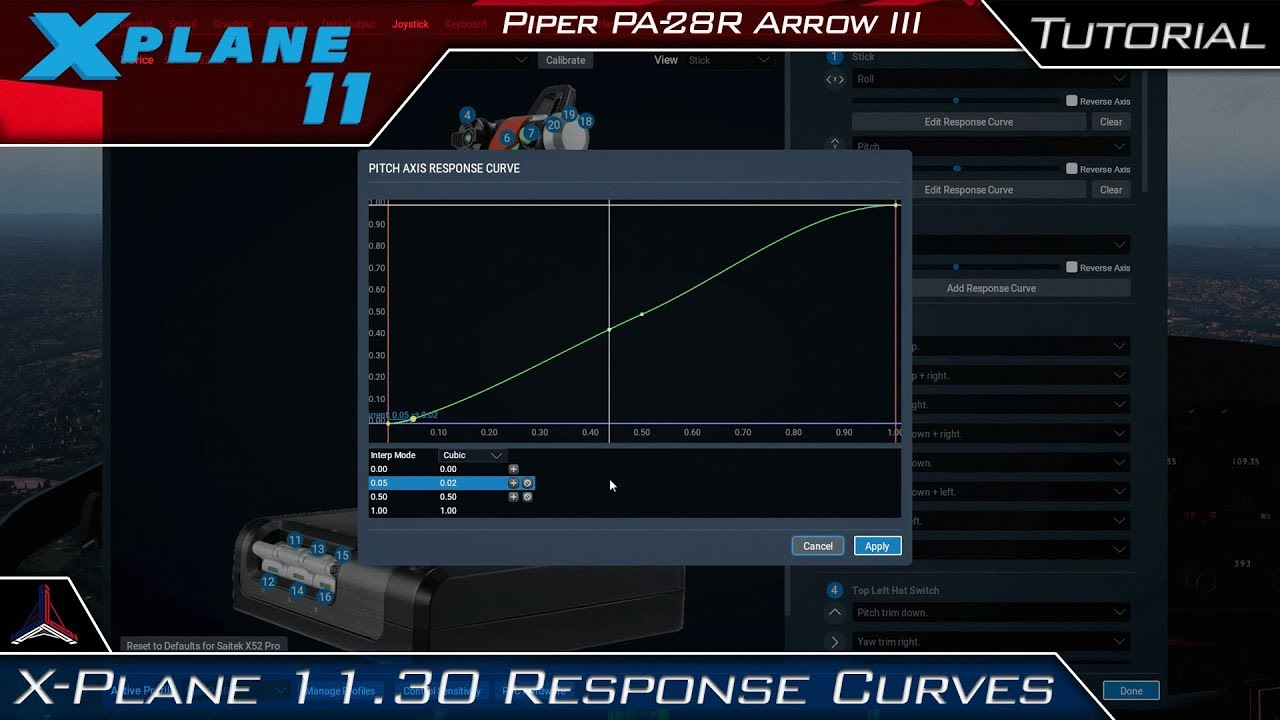 X Plane 11   Version 11 30 Control Setup Tutorial (Response Curves)