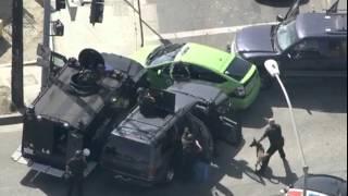 LAPD Armored Car Pit Manuever