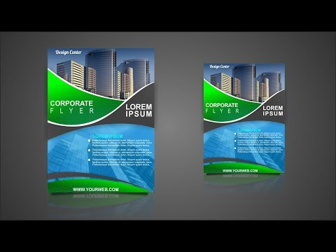 CorelDraw X7 Tutorial Design Corporate Flyer Template With Design Center