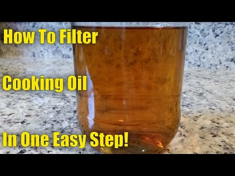How To Filter and Reuse Cooking Oil in One Easy Step!