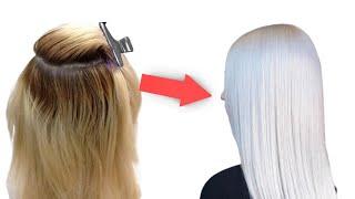 Как покрасить волосы в СУПЕР БЛОНД! Уроки пошагово!