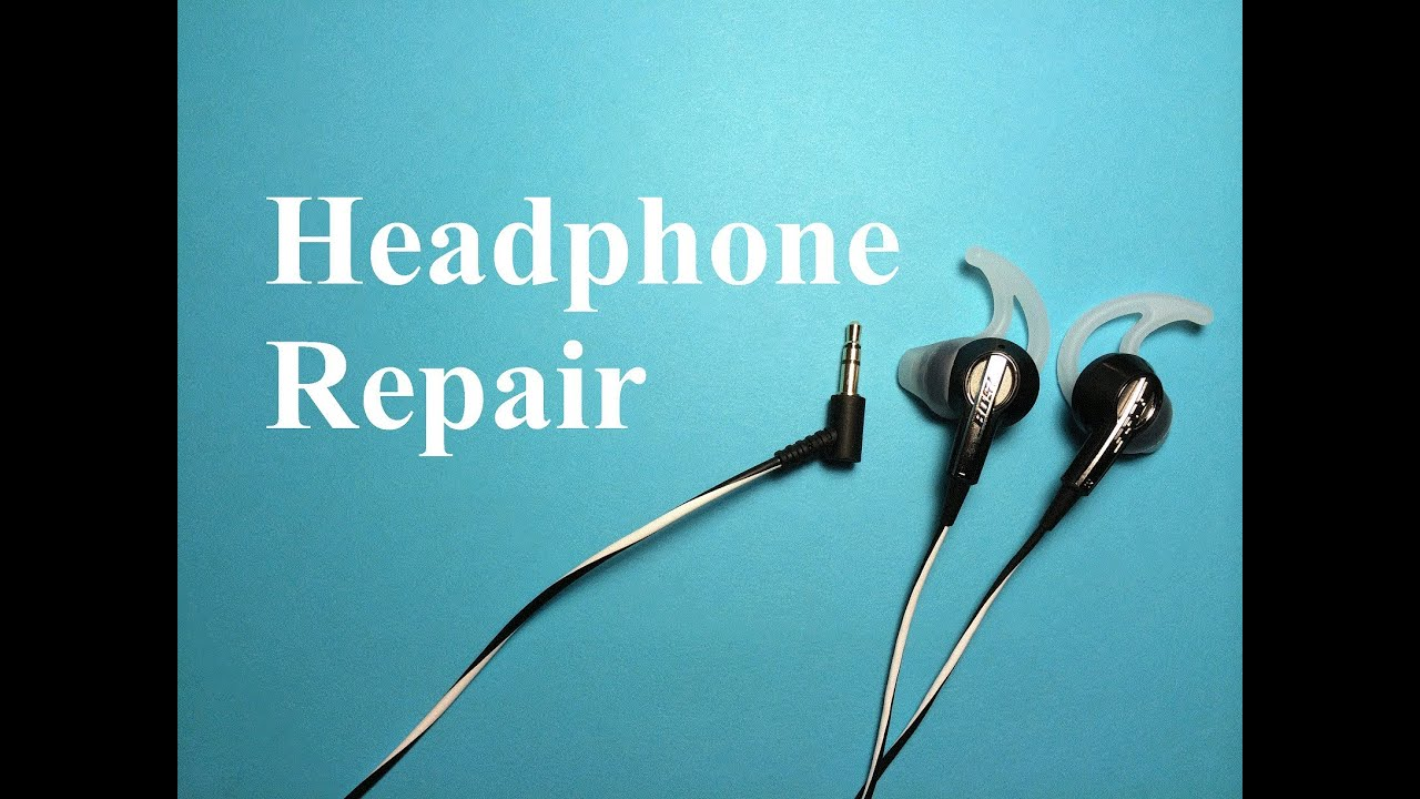 maxresdefault how to repair or fix headphones youtube Bose In-Ear Headphones at webbmarketing.co