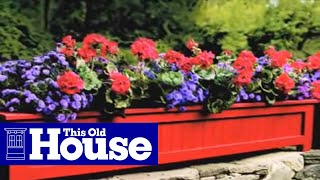 How to Build a Weather-Resistant Planter - This Old House