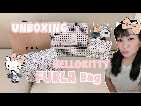 🎀Unboxing My Hellokitty Furla Bags & Comparing It To A Fake Furla Bag🎀