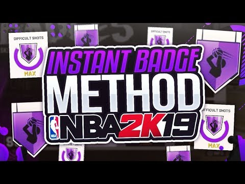 NBA 2K19 INSTANT BADGE METHOD! GET ALL THE BEST BADGES ON YOUR  BUILDS/ARCHETYPES WITH NO MYCAREER!