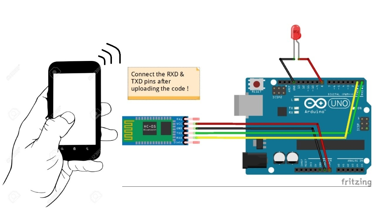 Tutorial on Bluetooth sensor HC-05 with Arduino | Connections & Coding