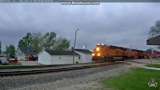 BNSF Monster Train: Eight Locomotives And 263 Cars