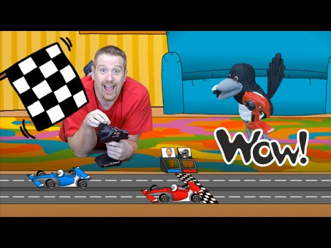 Steve and Maggie are playing with Cars Toys  | English For Kids | Story for Children