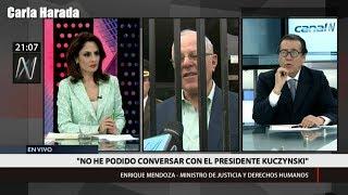 Enrique Mendoza, ministro de Justicia, habla sobre posibilidad de denuncia contitucional a PPK