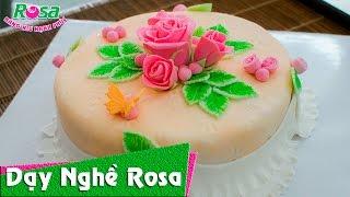 Làm bánh Fondant cực đẹp chủ đề hoa hồng