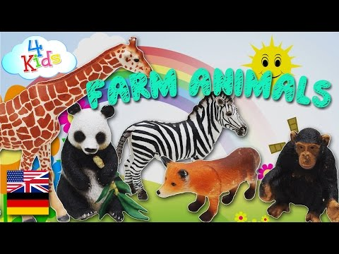 Bilingual Schleichtiere, wildlife and farm animals by names and sounds (german-english)