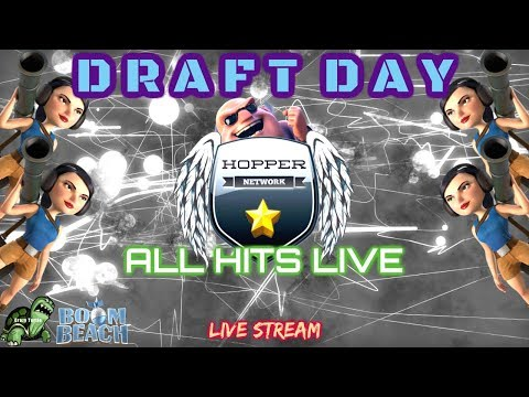 Boom Beach - ALL HITS LIVE - Draft Day! - Russian Roulette - Hopper Network Event Part 1/3