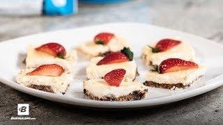 Strawberry Protein Cheesecake Bites | Healthy Dessert
