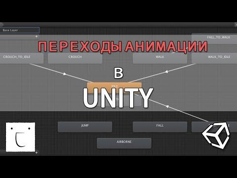 Переход анимации персонажа - Unity легко