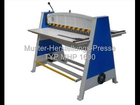 MÖLLE Muster-Herstellungs-Presse Typ MHP 1600