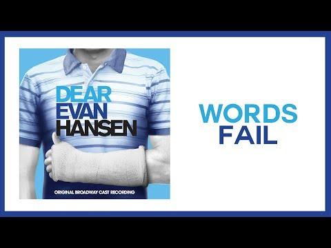 Words Fail — Dear Evan Hansen (Lyric Video) [OBC]