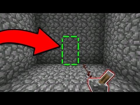 HIDDEN BASE HACK in Minecraft Pocket Edition (Secret Base Textures)