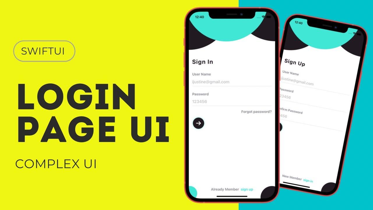 SwiftUI Login Page UI - Complex UI - SwiftUI Tutorials