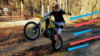 We turned kids dirt bike into a race bike!! FIRE!
