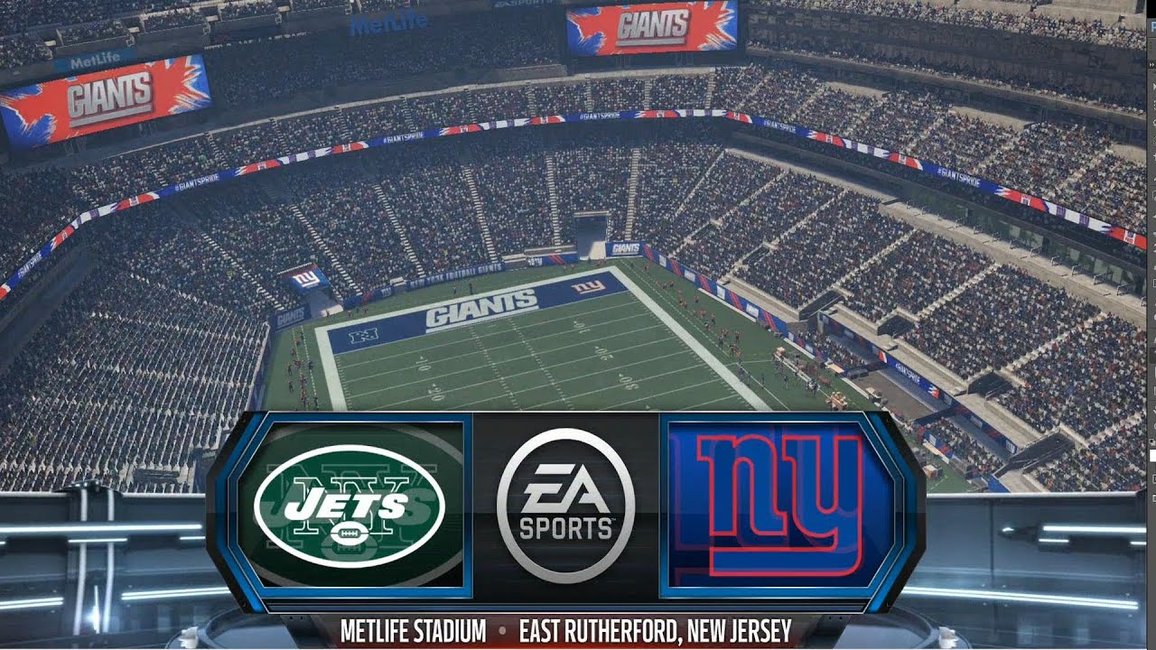 madden nfl 16 new york jets vs new york giants gameplay. Black Bedroom Furniture Sets. Home Design Ideas