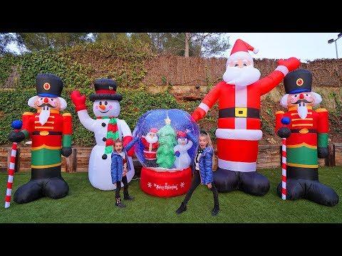 Increíble reacción de Las Ratitas con inflables gigantes de Navidad ItarteVlogs