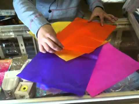 doblado de papel china para arreglos