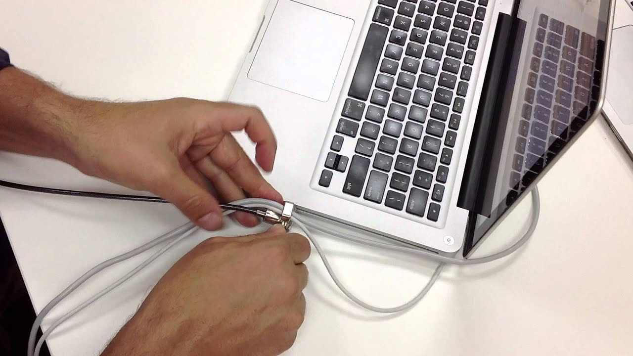 How To Use Maclocks Laptop Security Lock With Cable Trap