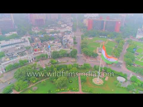 Connaught Place, New Delhi 4K aerial over-flight