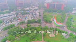 Connaught Place, New Delhi 4K aerial over-flight