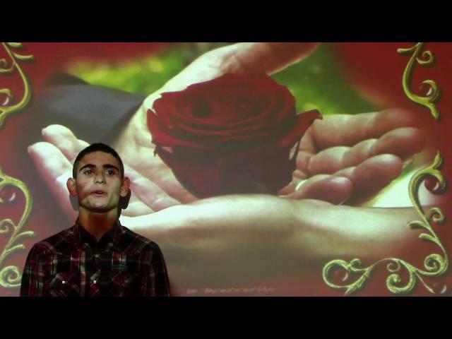 Изображение предпросмотра прочтения – АртёмБадасян читает произведение «Софии С., подарившей мне лепесток розы (Лепесток отцветающей розы…)» В.Я.Брюсова