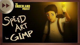 Gregor the Overlander Wallpaper - GIMP SPEED ART