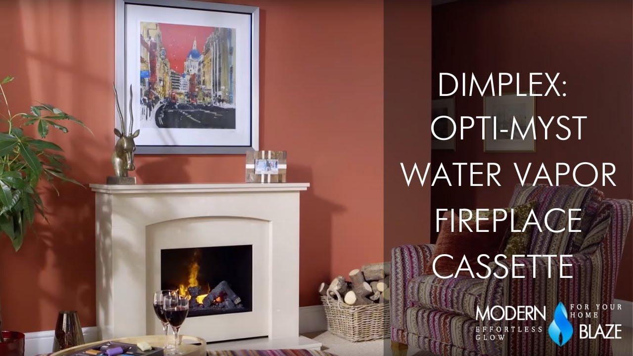 Dimplex Opti Myst Water Vapor Fireplace Cassette Youtube