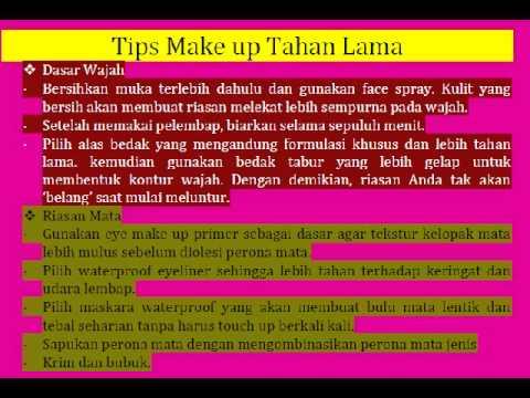 Tips Make Up Tahan Lama You