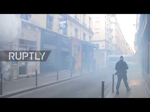 France: Police deploy tear gas as Yellow Vest protests enter sixth week
