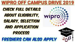 Wipro Off Campus Drive 2019 | (WILP) |B.Sc/ BCA | Across India | Apply Online