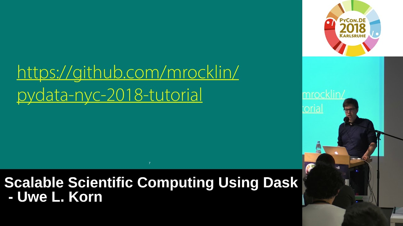 Image from Scalable Scientific Computing using Dask