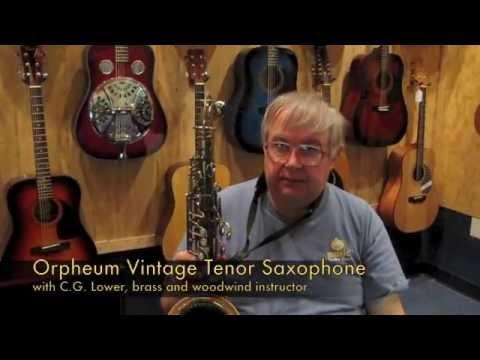 Orpheum Vintage Tenor Saxophone with Stone Hardshell Case