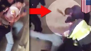 Police beat and taze man: Tuscaloosa cops filmed beating and tasering students - TomoNews