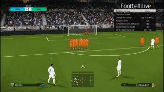 PES 2018 | Real Madrid vs Malaga | Free Kick Goal & Full Match | Gameplay PC