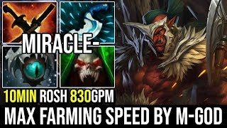 Miracle [Troll Warlord] Reason Why We Call Him M-God Max Farming Speed 10Min Roshan 830GPM | Dota 2