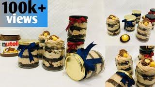ഞാൻ വിൽക്കുന്ന ജാർ കേക്ക് || Nutella ferrero rocher jar cake recipe || Party special dessert...