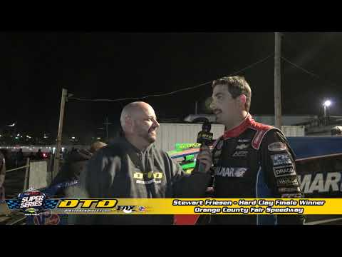 Stewart Friesen Talks about his Win in the Hard Clay Finale at OCFS