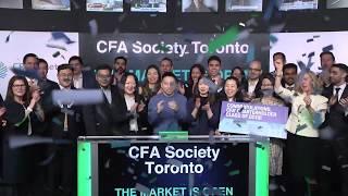 CFA Society Toronto opens Toronto Stock Exchange, February 27, 2020
