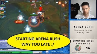 LAST 40 M NUTES OF ARENA RUSH   DHC   DUNGEON HUNTER CHAMP ONS