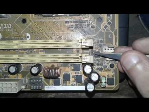 How to repair No display computer motherboard