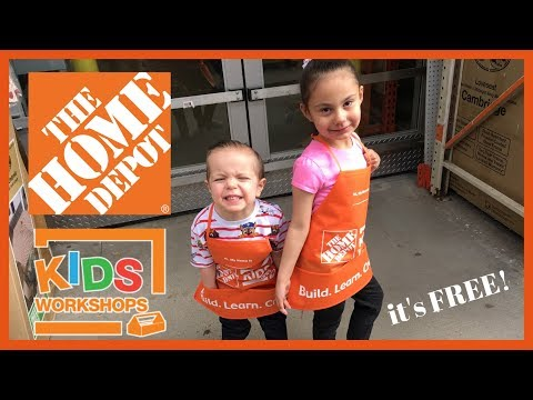 HOME DEPOT KIDS WORKSHOP... IT'S FREE!