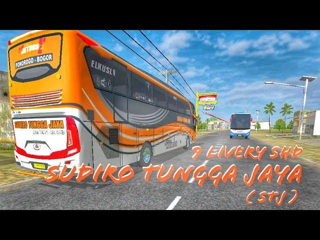 Berbagi Livery Bussid HD + SHD    Sudiro Tungga Jaya ( STJ ). #1