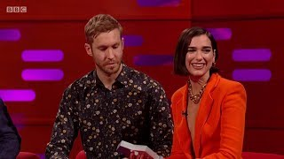 calvin harris dua lipa – one kiss sample interview on the graham norton show 2018