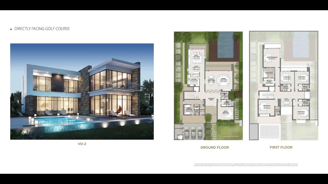 damac beverly hills boutique villas  floor plan  dubailand
